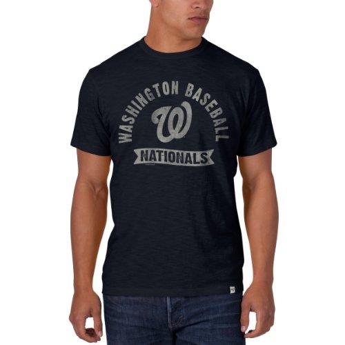 Mlb Washington Nationals Men'S Scrum Basic Tee, Large, Fall Navy front-942923