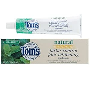 Tom's of Maine Antiplaque Tartar Control Plus Whitening Toothpaste 170g/6oz (Spearmint)