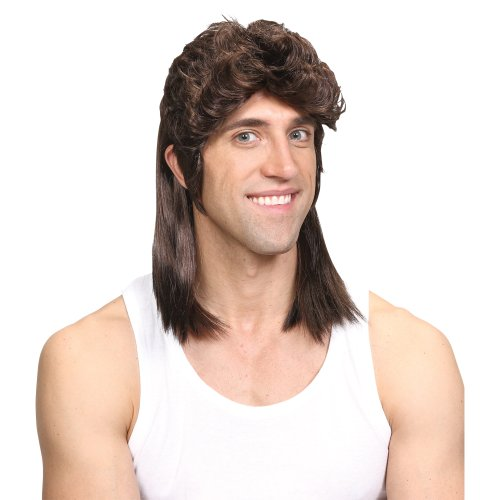 Wicked Costumes 1980's Mullet Redneck Hillbilly Southern Hairstyle Wig - Brown