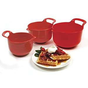 Norpro Mixing Bowls, Red, Set of 3 by Norpro