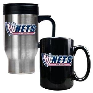 NBA Travel Mug & Ceramic Mug Set by Great American Products