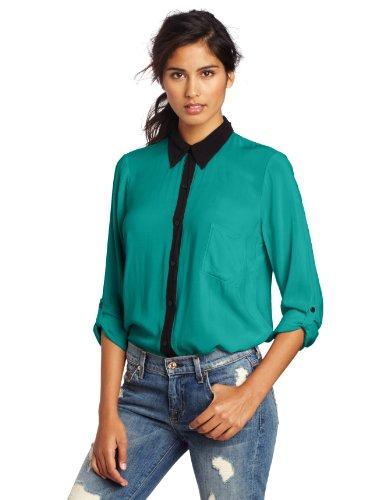 Splendid Women's Black Contrast Shirt