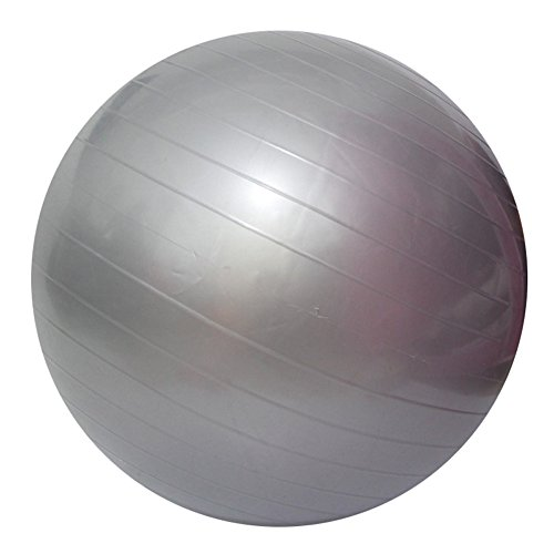 Yoga Fitness Ball Anti-Burst and Slip Resistant Ball with Pump (gray, S: Diameter:45cm/17.7
