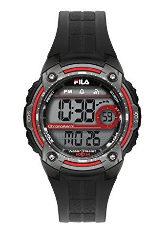 Fila unisex de pulsera reloj digital cuarzo 38-095-001filactive Negro Gris Plástico
