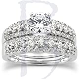 1.15CT Diamond Engagement Wedding Bridal Ring Set