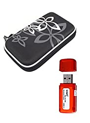 Shockproof Travel HDD Storage Protection Case for External HDD 2.5''Hard Drive With QHMPL USB 2.0 All in One Card Reader