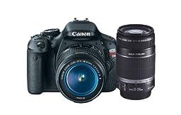 Canon EOS Rebel T3i 18 MP CMOS APS-C Sensor DIGIC 4 Image Processor Digital SLR Camera with EF-S 18-55mm f/3.5-5.6 IS Lens + Canon EF-S 55-250mm f/4.0-5.6 IS Telephoto Zoom Lens (OLD MODEL)