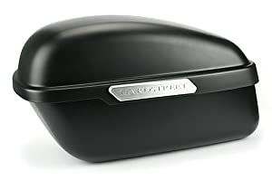 Hardstreet 1HAR-5060-05 Satin Black Classic Hard Saddle Bag-Pair
