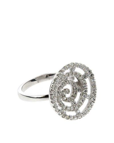 My Silver Anillo Tú y Yo Espiral de Circonitas
