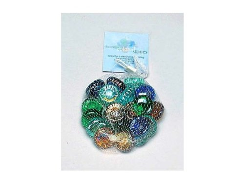 Decorative colored stones - Pack of 18