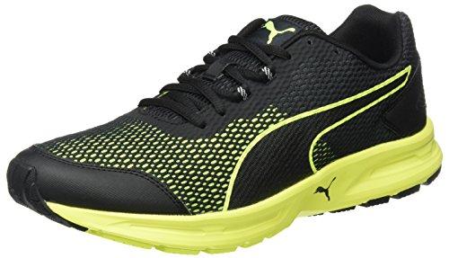 Puma Descendant V4, Sneaker Uomo, Nero (puma black-safety Yellow 02), 42