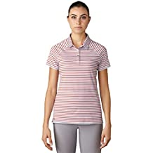 Adidas Golf Women's Double Stripe Short Sleeve Polo T-Shirt