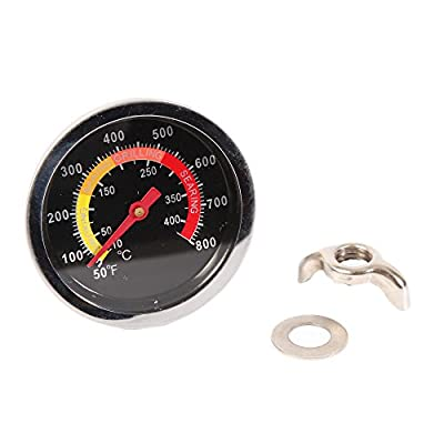 Teika Temperature Gauge Grill Pit Thermometer Fahrenheit for Barbecue Meat Cooking Pork Lamb Beef