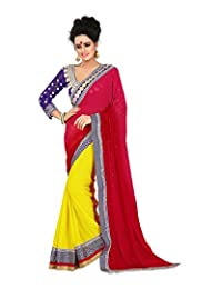 Atmiya Fashion Women's Georgette Saree With Blouse Piece - B00WEMT95O