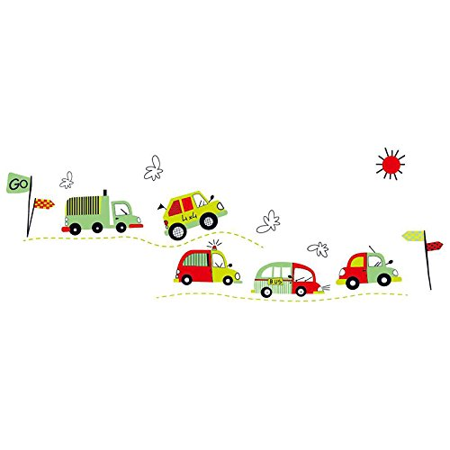 Loving Cars Wall Vinly Decal Decor Sticker Removable Wall Decal For Nursery Girls And Boys Children'S Bedroom front-1001254