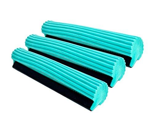 Super Absorbent PVA Roller Sponge Mop Head Refill - Set of 3 (Sponge Mops Floor compare prices)