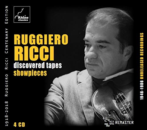 CD : RUGGIERO RICCI - Discovered Tapes: Showpieces (4 Discos)