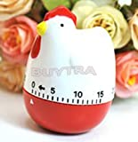 B-Comrade 60 Minutes Mechanical Cartoon Chicken Home Kitchen Cooking Timer Alarm