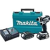 Makita XDT04RW-R 18V LXT 2.0 Ah Cordless Lithium-Ion 1/4 in. Impact Driver Kit (Renewed)
