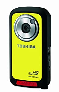 Toshiba Camileo BW10 Waterproof HD Recording with 2-Inch LCD Screen (Yellow)