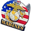 US Marines 3-D Logo Trailer Hitch Cover - NCAA College Athletics Fan Shop Sports Team Merchandise