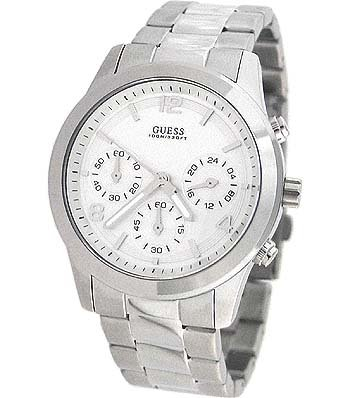 Guess Waterpro Silver-Tone Stainless Steel Ladies Watch U12605L1