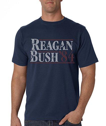 New York Fashion Police Reagan Bush '84 Vintage Distressed T-Shirt Campaign Tee XXL