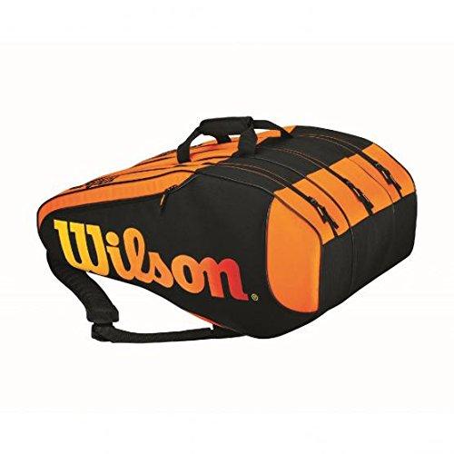 Wilson Schlägertasche Burn Team 12 Pack, orange, 76 x 30,5 x 34,3 cm, 80 liters