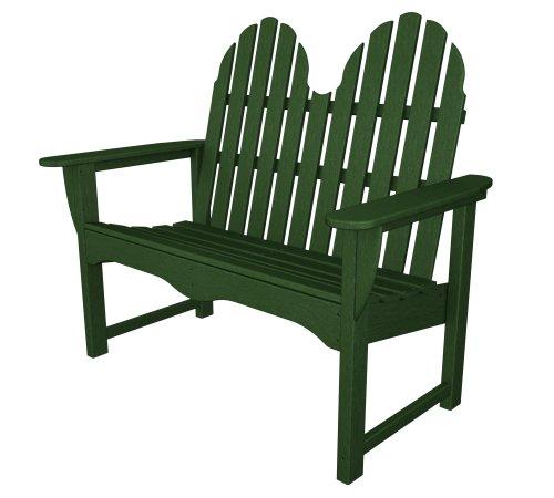POLYWOOD ADBN-1GR Classic Adirondack 48″ Bench, Green