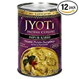 Jaipur Karhi, Organic Potato Dumplings in Spicy Buttermilk Sauce, 425 Gram Cans, (Pack of... by Jyoti Cuisine India