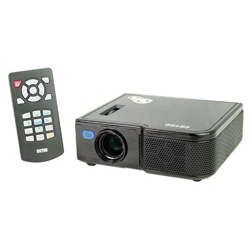 Micro Projector Usb 1024*768 Resolution Rgb Led Hdmi Audio Out Av/Vga In Sd Card Port Mini Projector Black