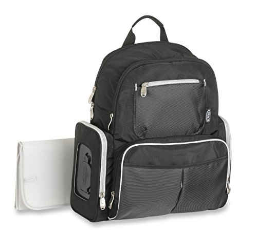Graco Gotham Smart Organizer System Back Pack Diaper Bag, Black/Grey - 1