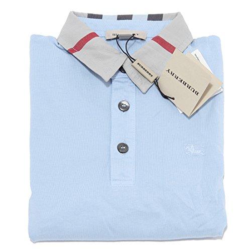 1679M polo bimbo BURBERRY manica lunga cotone maglie t-shirts kids [5 YEARS]