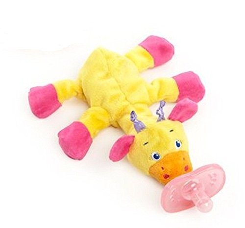 Bright Starts Cozy Coos Yellow Pink Giraffe - 1