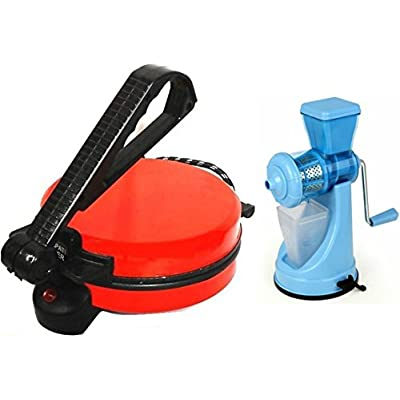 NON-STICK RED ROTI MAKER WITH JUICER