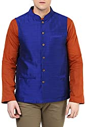Indus Route by Pantaloons Men's Cotton Waistcoat 205000005638709_ Size_Small