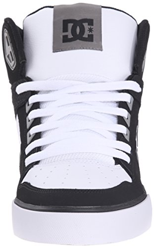 DC Men's Spartan High WC Skate Shoe, Black/Grey/White, 10 M US