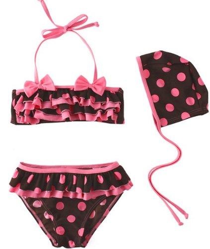 swim-1235 windykids Baby Girls Swimwear kids Swimsuit Bikini Size 5-6Y image