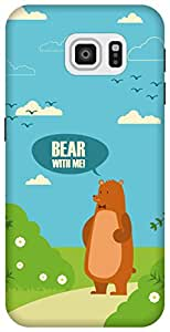 The Racoon Grip Bear with Me hard plastic printed back case/cover for Samsung Galaxy S6