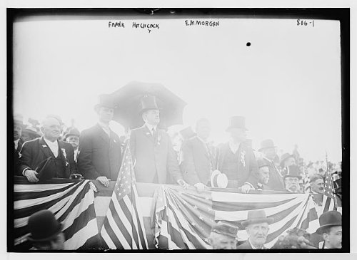 Image of Frank Hitchcock,E.M. Morgan,speakers stand,Jersey City,Hudson County,N.J.,1909 (B0083W0QJC)