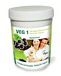 Veg1 Blackcurrant Multivitamins and Minerals Tablets - Pack of 180 Tablets