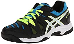 ASICS GEL Game 5 GS Tennis Shoe (Little Kid/Big Kid),Onyx/White/Atomic Blue,3.5 M US Big Kid