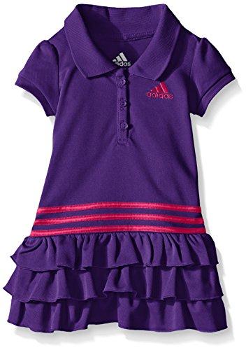 Adidas Baby Girls Ruffle Polo Dress Purple 24 Months