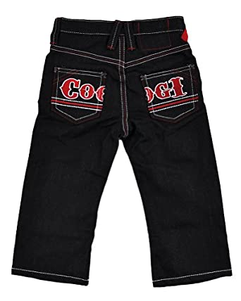 coogi boys black rinse denim jean with