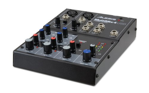 Alesis MultiMix 4 USB Four-Channel USB Mixer