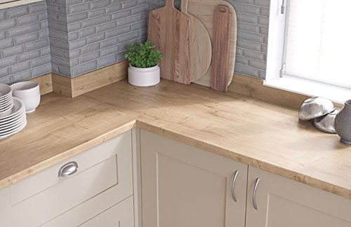 Egger Contemporary Natural Arlington Oak Effect Kitchen Bathroom Laminate Worktop Offcut Work Surface 40mm Breakfast Bar - 3m x 670mm x 38mm Breakfast Bar