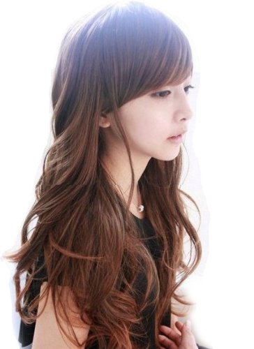 Classic Girls' Long Full Party Wig (Model: Jf010197) (Light Brown)