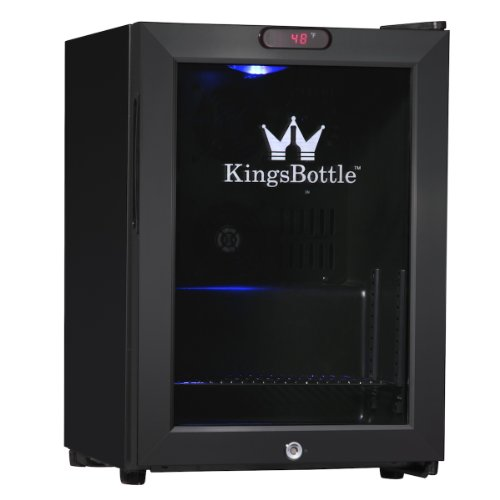KingsBottle 21 Can Mini Bar Fridge with Glass Door, Black (Beverage Refrigerator Bar compare prices)
