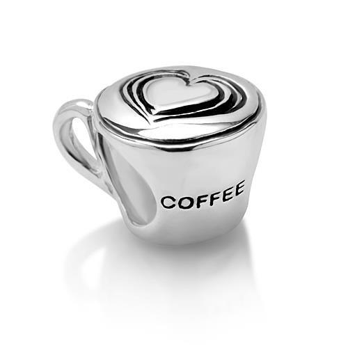 Chuvora Sterling Silver Love Coffee Cup Bead