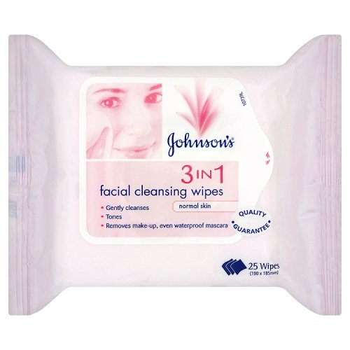 Johnsons 3-in-1 Normal Facial Cleansing Wipes - 25-Pack